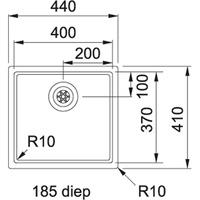 Franke BXX 210.40.37 Turbo plug