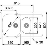 Franke CPX 260 Turbo Plug Incl. bakje